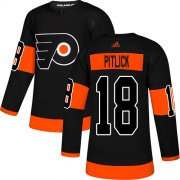 Wholesale Cheap Adidas Flyers #18 Tyler Pitlick Black Alternate Authentic Stitched NHL Jersey
