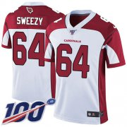 Wholesale Cheap Nike Cardinals #64 J.R. Sweezy White Men's Stitched NFL 100th Season Vapor Limited Jersey