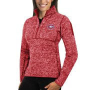 Wholesale Cheap Montreal Canadiens Antigua Women's Fortune 1/2-Zip Pullover Sweater Red