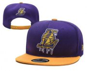Wholesale Cheap Men's Los Angeles Lakers Snapback Ajustable Cap Hat 2