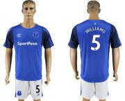 Wholesale Cheap Everton #5 Williams Home Soccer Club Jersey