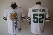 Wholesale Cheap Nike Packers #52 Clay Matthews White Men's Stitched NFL Helmet Tri-Blend Limited Jersey