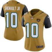 Wholesale Cheap Nike Jaguars #10 Laviska Shenault Jr. Gold Women's Stitched NFL Limited Rush Jersey