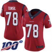 Wholesale Cheap Nike Texans #78 Laremy Tunsil Red Alternate Women's Stitched NFL 100th Season Vapor Untouchable Limited Jersey