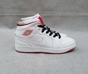 Wholesale Cheap Women's Jordan 1 Mid Shoes White red black