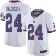 Wholesale Cheap Nike Giants #24 James Bradberry White Men's Stitched NFL Limited Rush Jersey