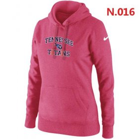 Wholesale Cheap Women\'s Nike Tennessee Titans Heart & Soul Pullover Hoodie Pink