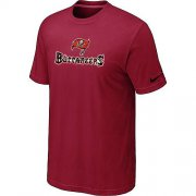 Wholesale Cheap Nike Tampa Bay Buccaneers Authentic Logo NFL T-Shirt Red