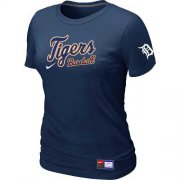 Wholesale Cheap Women's Detroit Tigers Nike Short Sleeve Practice MLB T-Shirt Midnight Blue