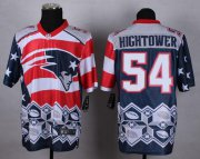 Wholesale Nike Patriots #54 Dont'a Hightower Navy Blue Men's Stitched NFL Elite Noble Fashion Jersey