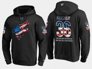 Wholesale Cheap Coyotes #36 Christian Fischer NHL Banner Wave Usa Flag Black Hoodie