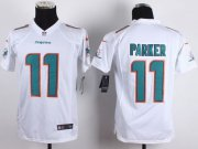 Wholesale Nike Dolphins #11 DeVante Parker White Youth Stitched NFL New Elite Jersey