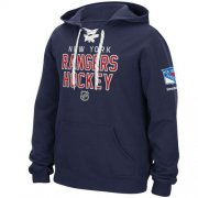 Wholesale Cheap New York Rangers Reebok Stitch Em Up Lace Hoodie Blue