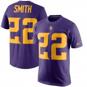 Wholesale Cheap Minnesota Vikings #22 Harrison Smith Nike Color Rush Player Pride Name & Number T-Shirt Purple
