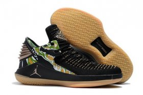 Wholesale Cheap Air Jordan 32 Low Camo Prints Black/Green-Brown