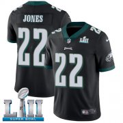 Wholesale Cheap Nike Eagles #22 Sidney Jones Black Alternate Super Bowl LII Youth Stitched NFL Vapor Untouchable Limited Jersey