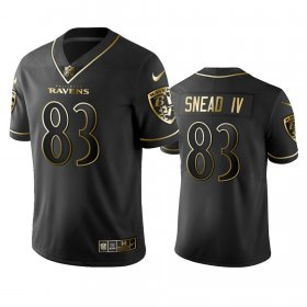 Wholesale Cheap Nike Ravens #83 Willie Snead IV Black Golden Limited Edition Stitched NFL Jersey