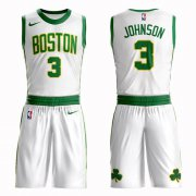 Wholesale Cheap Boston Celtics #3 Dennis Johnson White Nike NBA Men's City Authentic Edition Suit Jersey