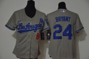 Wholesale Cheap Los Angeles Dodgers #8 #24 Kobe Bryant Youth Nike Grey Cool Base 2020 KB Patch MLB Jersey