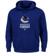 Wholesale Cheap Vancouver Canucks Majestic Critical Victory VIII Fleece Hoodie Blue