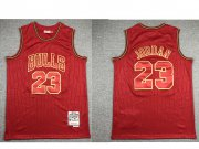 Wholesale Cheap Men's Chicago Bulls #23 Michael Jordan Red 1997-98 Hardwood Classics Soul AU Throwback Jersey