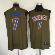 Wholesale Cheap Oklahoma City Thunder #7 Carmelo Anthony Olive Nike Swingman Jersey
