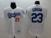 Wholesale Cheap Dodgers #23 Kirk Gibson White Flexbase Authentic Collection Stitched MLB Jersey