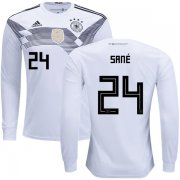 Wholesale Cheap Germany #24 Sane Home Long Sleeves Kid Soccer Country Jersey