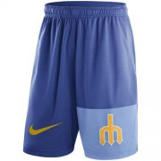 Wholesale Cheap Men's Seattle Mariners Nike Royal Cooperstown Collection Dry Fly Shorts