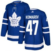 Wholesale Cheap Adidas Maple Leafs #47 Leo Komarov Blue Home Authentic Stitched NHL Jersey