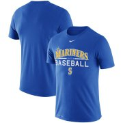 Wholesale Cheap Seattle Mariners Nike Practice Performance T-Shirt Royal