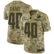 Wholesale Cheap Nike Lions #40 Jarrad Davis Camo Youth Stitched NFL Limited 2018 Salute to Service Jersey