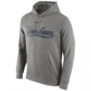 Wholesale Cheap New York Yankees Nike Club Pullover Gray MLB Hoodie