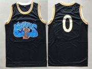 Wholesale Cheap Monstars 0 Black Space Jam Stitched Movie Jersey