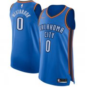 Wholesale Cheap Nike Oklahoma City Thunder #0 Russell Westbrook Blue NBA Authentic Icon Edition Jersey