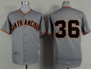 Wholesale Cheap Mitchell And Ness 1962 Giants #36 Gaylord Perry Grey Stitched MLB Jersey