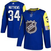 Wholesale Cheap Adidas Maple Leafs #34 Auston Matthews Royal 2018 All-Star Atlantic Division Authentic Stitched Youth NHL Jersey