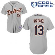 Wholesale Cheap Tigers #13 Omar Vizquel Grey Cool Base Stitched Youth MLB Jersey
