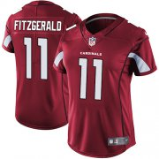 Wholesale Cheap Nike Cardinals #11 Larry Fitzgerald Red Team Color Women's Stitched NFL Vapor Untouchable Limited Jersey