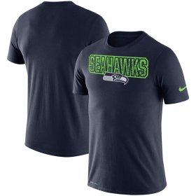 Wholesale Cheap Seattle Seahawks Nike Local Verbiage Performance T-Shirt College Navy