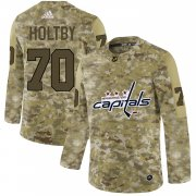 Wholesale Cheap Adidas Capitals #70 Braden Holtby Camo Authentic Stitched NHL Jersey