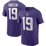 Wholesale Cheap Minnesota Vikings #19 Adam Thielen Nike Team Player Name & Number T-Shirt Purple