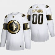 Wholesale Cheap Winnipeg Jets Custom Men's Adidas White Golden Edition Limited Stitched NHL Jersey