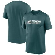 Wholesale Cheap Philadelphia Eagles Nike Fan Gear Team Conference Legend Performance T-Shirt Midnight Green