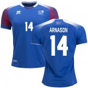 Wholesale Cheap Iceland #14 Arnason Home Soccer Country Jersey
