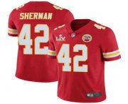 Wholesale Cheap Men's Kansas City Chiefs #42 Anthony Sherman Red 2021 Super Bowl LV Limited Stitched NFL Jersey