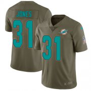 Wholesale Cheap Nike Dolphins #31 Byron Jones Olive Men's Stitched NFL Limited 2017 Salute To Service Jersey