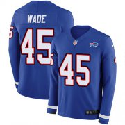 Wholesale Cheap Nike Bills #45 Christian Wade Royal Blue Team Color Men's Stitched NFL Limited Therma Long Sleeve Jersey