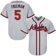 Wholesale Cheap Braves #5 Freddie Freeman Grey Cool Base Stitched Youth MLB Jersey