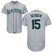 Wholesale Cheap Mariners #15 Kyle Seager Grey Flexbase Authentic Collection Stitched MLB Jersey